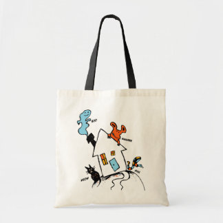 Happy Halloween House Tote Bag