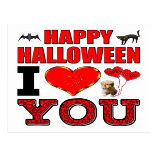Happy Halloween I Love You Postcard