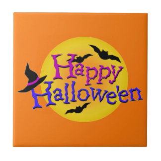 Happy Halloween Ilustrations Ceramic Tile