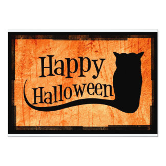 Happy Halloween 13 Cm X 18 Cm Invitation Card
