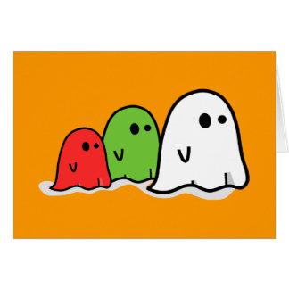 Happy Halloween Italian Ghosts Kawaii Cute Greeting Card