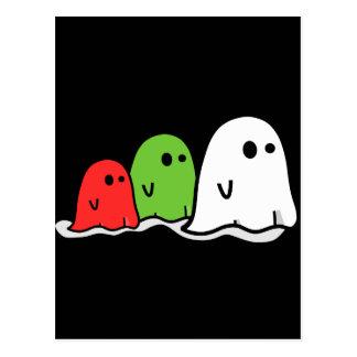 Happy Halloween Italian Ghosts Kawaii Cute Postcard