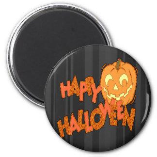 Happy Halloween Jack o lantern 6 Cm Round Magnet