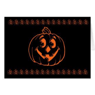 Happy Halloween Jack O lantern Greeting Card