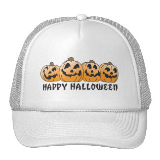 Happy Halloween Jack-O-Lantern Trucker Hat