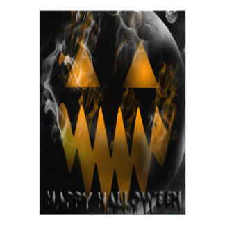 Happy Halloween Jack O Lantern Party Invitation