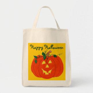 Happy Halloween Jack-o-lantern - Tote Bag