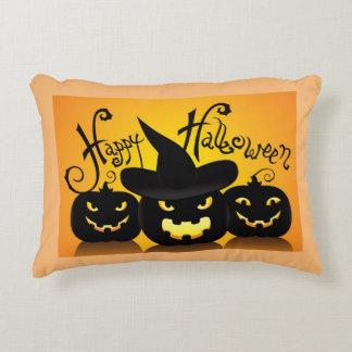 Happy Halloween Jack-O- Lanterns Accent Cushion