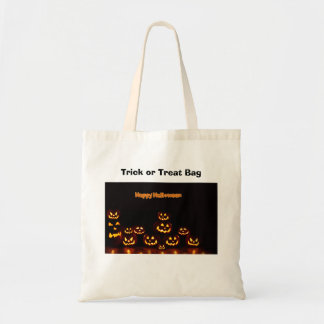 Happy Halloween-Jack-o'-lanterns Budget Tote Bag