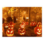Happy Halloween Jack O Lanterns Postcard