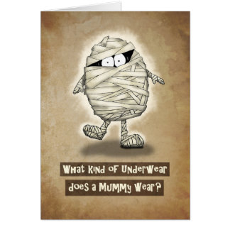 Happy Halloween Joking Mummy Card