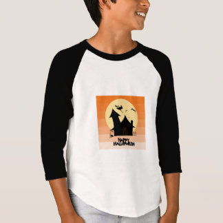 """Happy Halloween"" Kids Raglan Top"