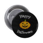 Happy Halloween Knit Button