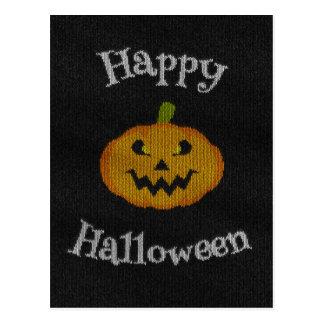 Happy Halloween Knit Postcard