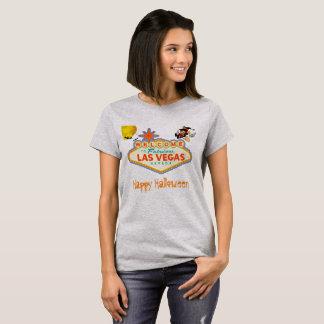 Happy Halloween Las Vegas Flying Witch T-Shirt