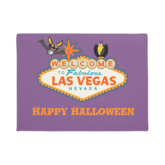 Happy Halloween Las Vegas Style Doormat