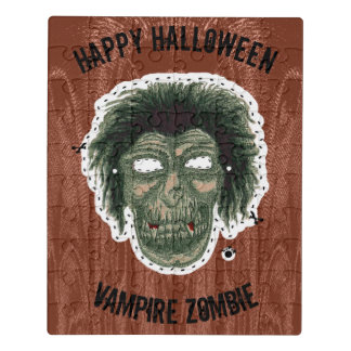 Happy Halloween -Mask Vampire Zombie Jigsaw Puzzle