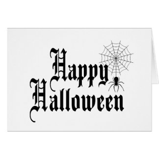 Happy Halloween minimalist typography Card