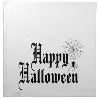 Happy Halloween minimalist typography Napkin