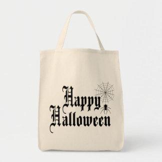 Happy Halloween minimalist typography Tote Bag