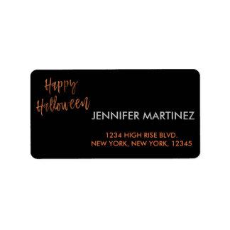 Happy Halloween Modern Halloween Address Label