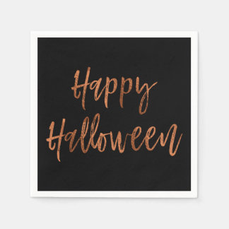 Happy Halloween Modern Halloween Napkins Disposable Serviettes