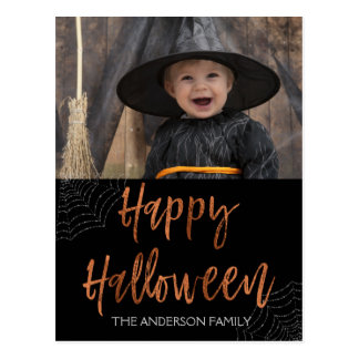 Happy Halloween Modern Halloween Photo Card