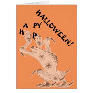 Happy Halloween Monster Greeting Card