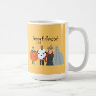 Happy Halloween Mugs, Pumpkin Dice Cowgirl Ghost Basic White Mug