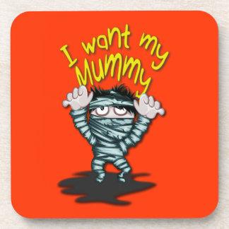 Happy Halloween Mummy Coasters
