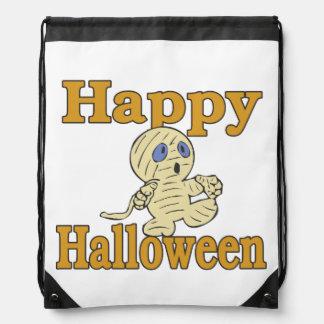 Happy Halloween Mummy Trick Or Treat Costume Bag Cinch Bag