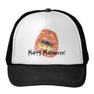 Happy Halloween! Mustache Pumpkin Cap