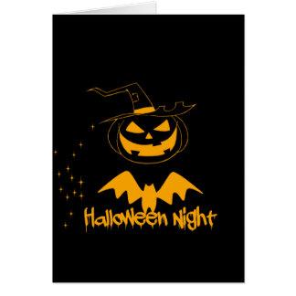 Happy halloween night greeting card
