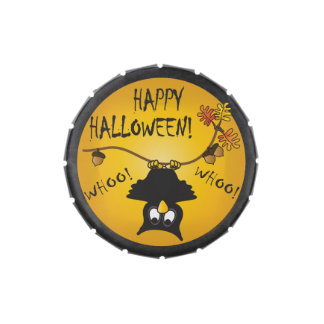 Happy Halloween Night Owl Candy Tins