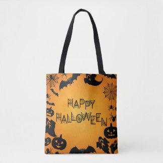 Happy Halloween Orange Bag