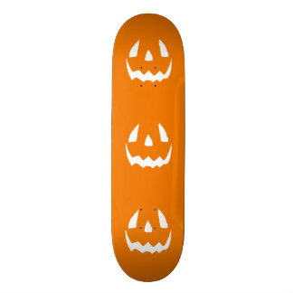 Happy Halloween Orange Jack O Lantern Face Skateboard