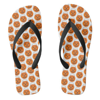 Happy Halloween Orange Pumpkin Jack o' Lantern Thongs