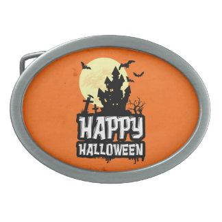 Happy Halloween Oval Belt Buckles