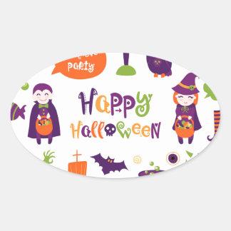 Happy Halloween! Oval Sticker