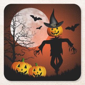 Happy Halloween Paper Coaster Square Paper Coaster