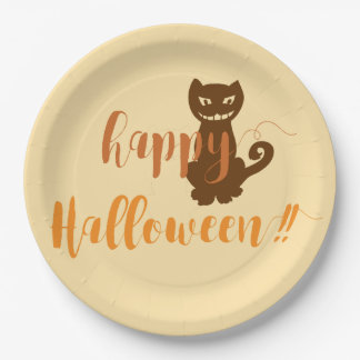 HAPPY HALLOWEEN - Paper plates 9 Inch Paper Plate
