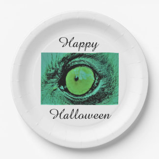 Happy halloween paper plates by Jane Howarth