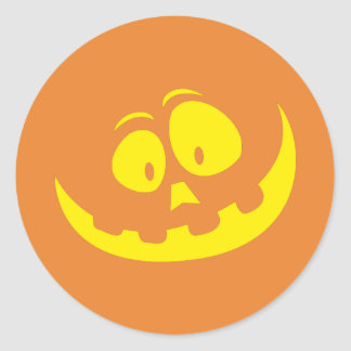 Happy Halloween Party Jackolantern Pumpkin Sticker