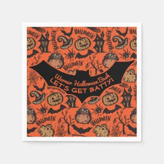 Happy Halloween Party - Let's Get Batty! Paper Napkin