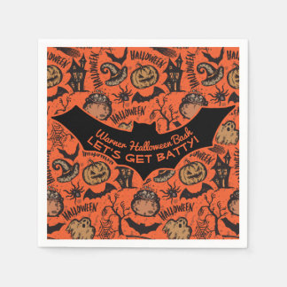 Happy Halloween Party - Let's Get Batty! Paper Serviettes