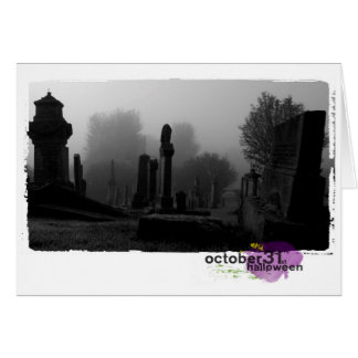 Happy Halloween Photography cemetary Note Card