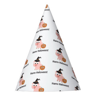 Happy Halloween Pig Witch Party Hat