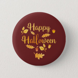 Happy Halloween Pin Autumn Button