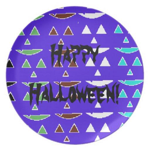 Happy Halloween Plates