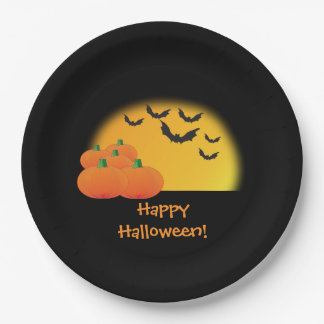 Happy Halloween Plates 9 Inch Paper Plate